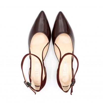 scarpa cinturino vernice camoscio lurah 41