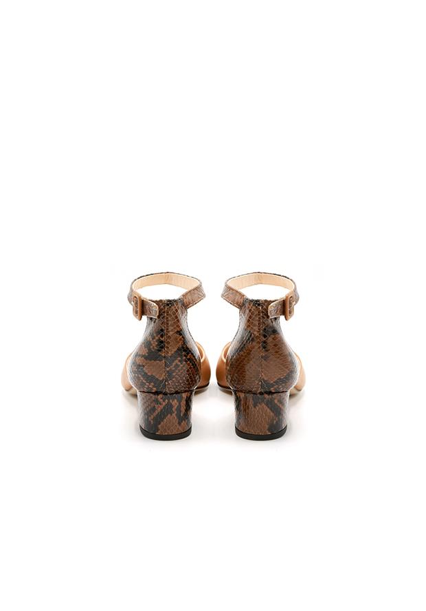 Scarpa d'orsay cinturino pitone miele numeri grandi.jpg