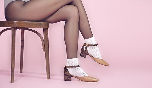 scarpa d'orsay cinturino pitone miele dal 41 al 45