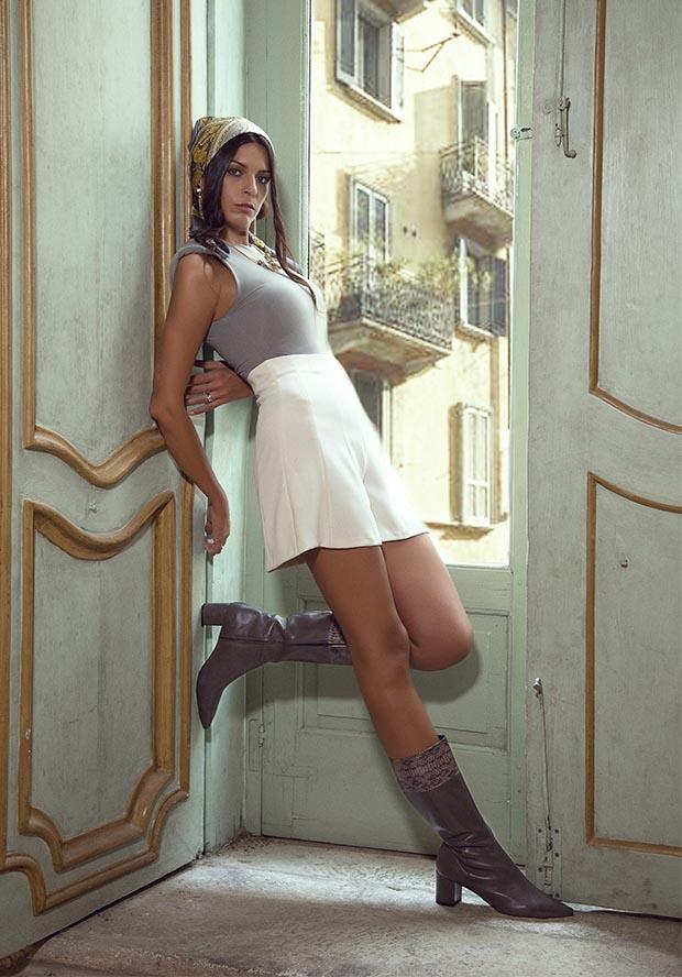 stivale fascia pitone asfalto lurah scarpe donna numeri grandi