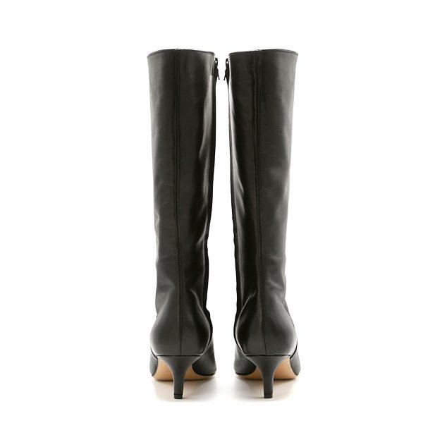 stivale numeri grandi con zip lurah scarpe donna