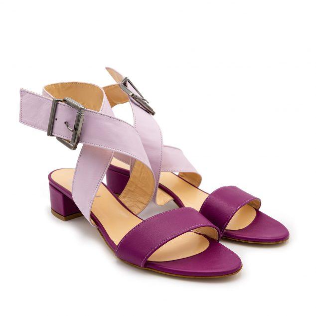Sandalo Fucsia Lilla Doppia Fascia numeri grandi 41 42 43 44 45