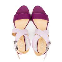 Sandalo Fucsia Lilla Doppia Fascia numeri grandi 41 _42 43 44 45
