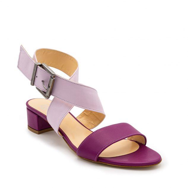 Sandalo Fucsia Lilla Doppia Fascia numeri grandi 41_42_43 44 45