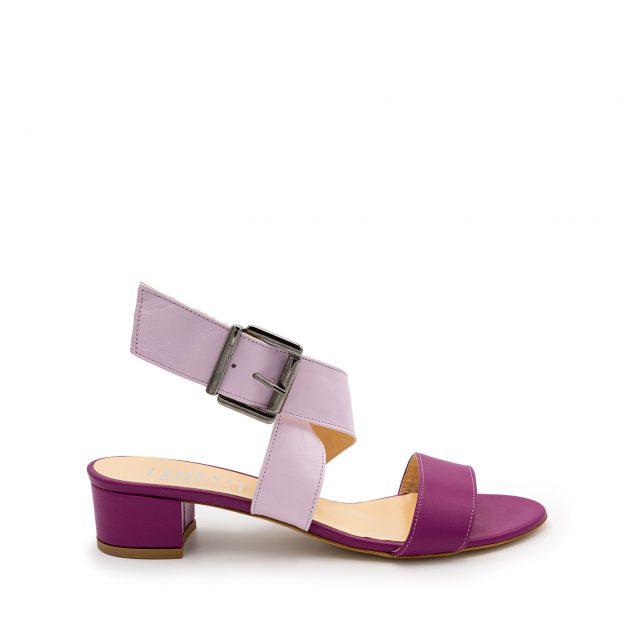 Sandalo Fucsia Lilla Doppia Fascia numeri grandi 41_42_43 44_45