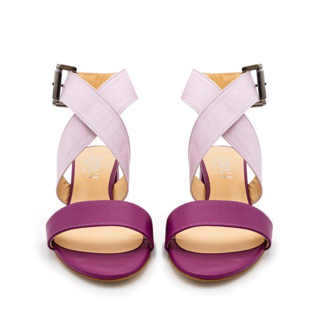 Sandalo Fucsia Lilla Doppia Fascia numeri grandi _41_42_43 44 45