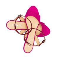 Sandalo Raso Rosa Rosso Con Cinturino Incrociato numeri 41 42 43 44_45