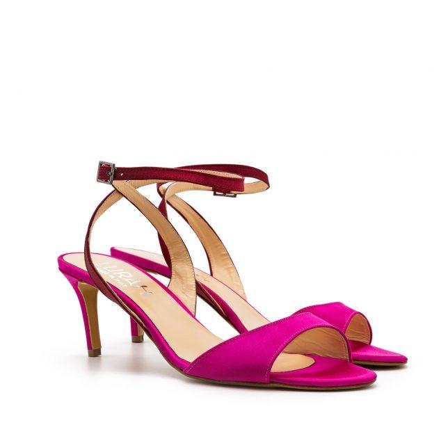 Sandalo Raso Rosa Rosso Con Cinturino Incrociato numeri 41_42 43 44_45