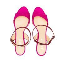 Sandalo Raso Rosa Rosso Con Cinturino Incrociato numeri 41_42_43_44 45
