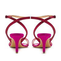 Sandalo Raso Rosa Rosso Con Cinturino Incrociato numeri _41 42 43 44 45