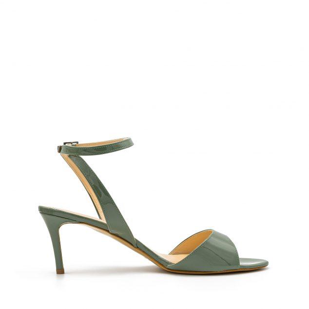 Sandalo Vernice Verde Militare Con Cinturino Incrociato numeri 41_42_43 44 45
